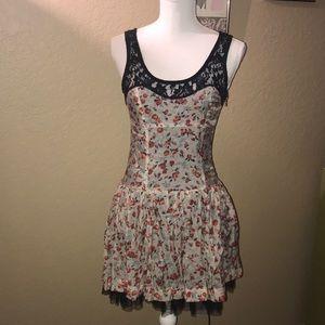 Flirty Floral Mini-Dress